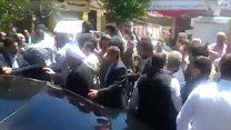 شعار علیه حسن روحانی روز راهپیمایی قدس