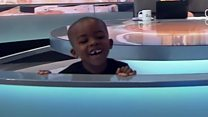Kid steals show during sickle cell chat