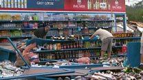 Tornado wreaks havoc at US liquor store