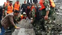 Many buried in China landslide