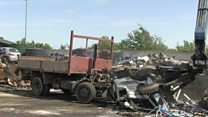 Fly-tipping lorry seized and crushed