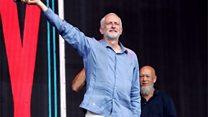 'Oh, Jeremy Corbyn!' sweeps Glastonbury