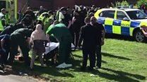 بالفيديو: سيارة تصدم مسلمين شمالي انجلترا