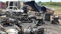 پاکستان: د تېلو ټانکر کې د اور لګېدو له امله لسګونه تنه وژل شوي