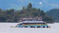 У Колумбії на дно пішло пасажирське судно