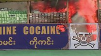 Myanmar torches $385m drugs haul