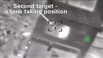 بالفيديو: قصف إسرائيلي لمواقع سورية في القنيطرة