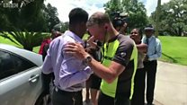 Pai cruza EUA de bicicleta para ouvir coração da filha bater no peito de outro homem