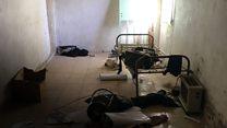 Un vistazo del cuarto donde estaban escondidos los combatientes de Estado Islámico