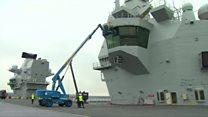 ТВ-новости: Крупнейший британский авианосец спушен на воду