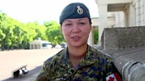 Female soldier leads Queen's Guard