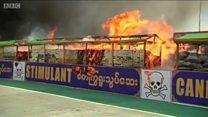 В Таиланде сожгли наркотики на 1 млрд долларов