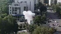 Car bomb blast in Kiev captured by CCTV