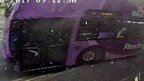مسافر بس کا راہ گیر شخص سے تصادم