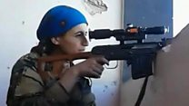 Female sniper cheats death at hands of IS