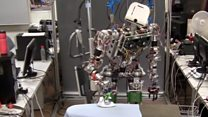 Ironing robot tackles creased clothes