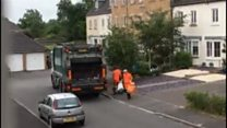 Recyling 'mixed up' in bin lorry