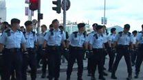香港主权移交二十周年:金紫荆广场示威者被逮捕