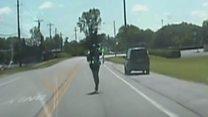 Як в Огайо поліцейський доганяв свою машину