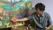 یک نقاش،  شیفته یک شاعر؛ پای حرفهای فرهاد دولتف تصویرگر شاهنامه