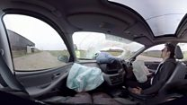 Mobile phone leads to VR car crash