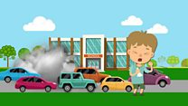 Fumes at school gates caused by cars