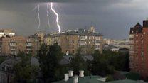 """В Москве прошел """"тропический"""" дождь"""
