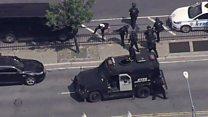 Police at New York hospital shooting