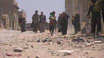 فريق بي بي سي يصل إلى مدنيين عالقين في الموصل