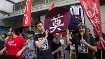香港七一升旗示威爆激烈冲突