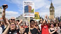 Thousands protest in Parliament Square