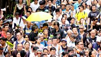 香港七一游行人数急跌