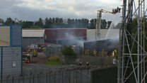 Firefighters tackle Belfast factory fire