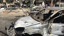 Syria's Tahrir square damaged by blast