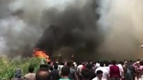 Fire tears through Lebanon refugee camp