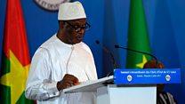 Le président Ibrahim Boubacar Keita du Mali évoque le financement de la force du G5