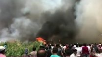 اندلاع حريق ضخم  بمخيم للاجئين السوريين في لبنان