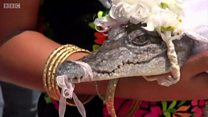 عروسی شهردار مکزیکی با یک کروکودیل