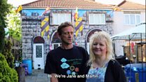 Couple from Weston paint their house to look like a castle