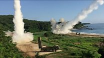Allies respond to NK test with rocket drills