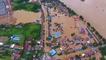 Floods in China kill dozens