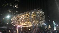 پردهبرداری از مجسمه آزادی لسانجلس با الهام از منشور کورش