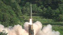 Os testes militares dos aliados americanos e sul-coreanos em resposta ao lançamento de míssil pela Coreia do Norte