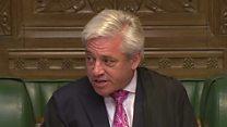Speaker warns MPs of 'downmarket' shrieking