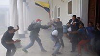 Mob storms Venezuela National Assembly