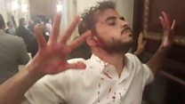 El momento de la agresión en la Asamblea Nacional de Venezuela que dejó varios diputados heridos