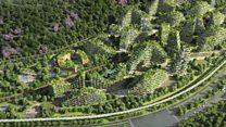 """La """"ciudad bosque"""" con 40.000 árboles que China quiere construir para reducir la contaminación"""