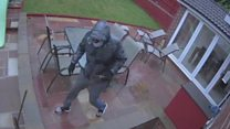 Residents flee axe-wielding burglars