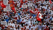 Tight security at Turkey opposition march