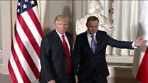 В Польше тепло встретили Дональда Трампа